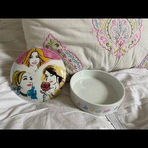 Disney princess glass round jewelry box